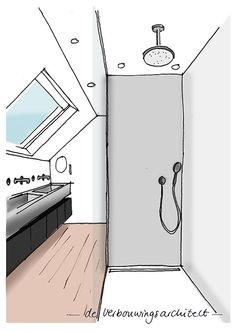 Drawing Interior, Attic Rooms, Home Renovation, Toilet, Loft, Interior Design, Modern, Inspiration, Home Decor
