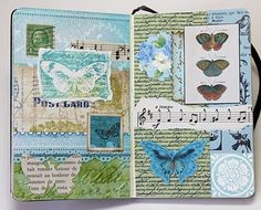 Bluebird Paperie: A Glue Book of Collaged Scraps