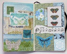 Bluebird Paperie: A Glue Book of Collaged Scraps