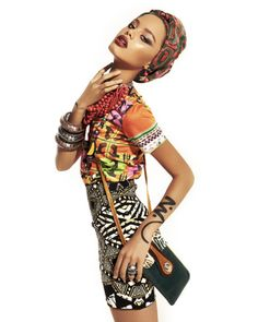 Mixing prints and a beautiful head wrap is just too gorgeous.   #afrostyle #fashion #prints
