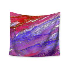Kess InHouse Ebi Emporium 'Agate Magic - Red Lavender' 51x60-inch Wall Tapestry