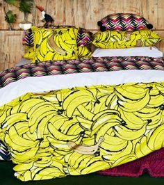Cheer up your bedroom décor in the bohemian style with these examples of colorful duvet covers. Yellow Duvet, Dreams Beds, Cushions Online, Queen Quilt, Mellow Yellow, Quilt Cover, Flat Sheets, New Room, Linen Bedding