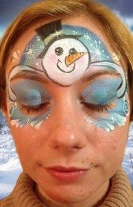 christmas pinguin schminken face paint kerst winter. Black Bedroom Furniture Sets. Home Design Ideas