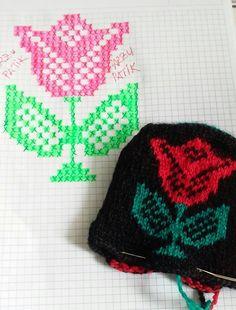 Beş şiş çetik(patik) ve tunusişi patiklerde kullanılabilecek desenlerin çizimleri... Bobble Crochet, Tunisian Crochet Patterns, Filet Crochet, Baby Knitting Patterns, Crochet Stitches, Crochet Hats, Chart Design, Fair Isle Knitting, Yarn Shop
