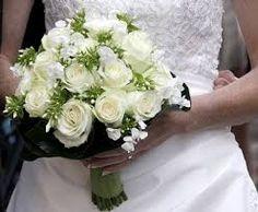 bruidsboeket witte rozen - Google zoeken