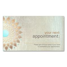 Gold Lotus Salon and Spa Appointment Card Business Card Template. This is a fully customizable business card and available on several paper types for your needs. You can upload your own image or use the image as is. Just click this template to get started!