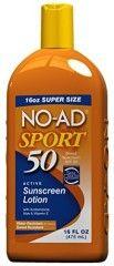 No-Ad 00220 Sport Sunscreen Lotion, Sport Sunscreen, Sunscreen Spf, Ad Sports, Skin Active, Sun Care, Good Housekeeping, Vitamin E, Lotion, Makeup