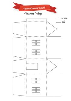 Christmas craft: light up paper house template Christmas Craft Projects, Holiday Crafts, Christmas Decorations, Christmas Ornaments, All Things Christmas, Christmas Home, Battery Operated Tea Lights, House Template, Putz Houses