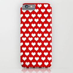 Indira Albert Valentine Hearts On Phone Case ($42) ❤ liked on Polyvore featuring accessories and tech accessories