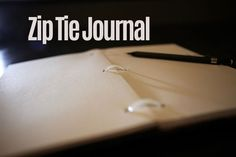 Zip Tie Journal: Make a super cool journal with zip ties! Cool Journals, Clever, Challenges, Ties, Handmade Cards, Journaling, Craft Ideas, Diy Crafts, Camping