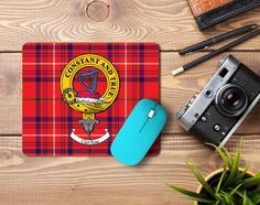 Rubber mousemat with Rose clan crest - only from ScotClans