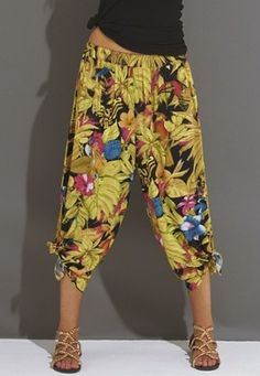 Cropped harem summer trousers