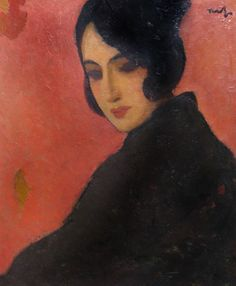 Fashion in Paintings: Spanish Woman - Nicolae Tonitza, 1928 Female Portrait, Portrait Art, Van Gogh, Spanish Woman, Spanish Eyes, Socialist Realism, Magic Realism, Political Art, Post Impressionism