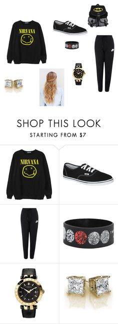"""Coolin"" by arkward-poop on Polyvore featuring Chicnova Fashion, Vans, NIKE, Versace, women's clothing, women's fashion, women, female, woman and misses"