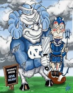 Tarheels and blue devils Nc State Basketball, Best Basketball Shoes, College Basketball, Carolina Pride, Carolina Blue, North Carolina Triangle, Unc Logo, Sports Art, Sports Images