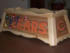 Chicago Bears pool table light