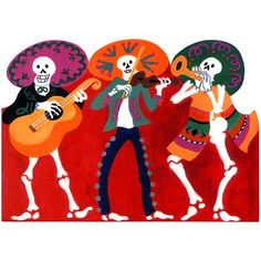 Los Mariachis #greetingcard #dayofthedead #sale