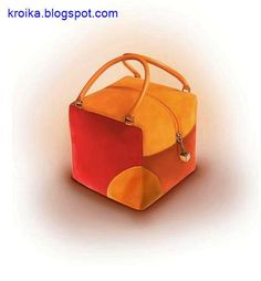 Un bolso inusual y muy original en forma de cubo. Tutorial gráfico para saber como hacer un bolso en forma de cubo, con patrones incluidos.