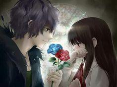 Bir erkekle kizin romantik resmi