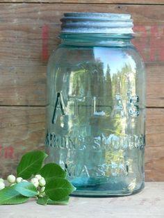 Atlas blue canning jar
