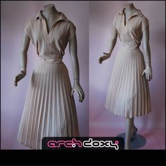 Vintage 1970s Taupe Chiffon Shirtwaist Pleated Secretary Penny Collar Dress #vintage http://www.ebay.co.uk/itm/Vintage-1970s-Taupe-Chiffon-Shirtwaist-Pleated-Secretary-Penny-Collar-Dress-UK16-/371571119860?ssPageName=STRK:MESE:IT