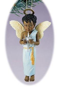 Black Christmas Angels  Black Angel Ornaments  African American