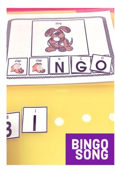 BINGO This is a favorite children's rhyme. I love the interactive part of this song as you clap along. A bonus is that you are also helping students recognize letters. It is perfect for Circle time activities, beginning language learners, imitation, Circle Time Songs, Circle Time Activities, Fun Activities, English Language Learners, Spanish Language Learning, Speech And Language, Language School, Picture Writing Prompts, Sentence Writing