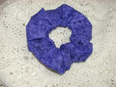 PURPLE Marble Sparkle Fabric Hair Scrunchie by coloradocntry