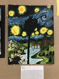 """8th Grade, OMS Student, Remixed Sandro Boticelli's """"Annunciation Cestello"""" in a different art style, which was impressionism"""