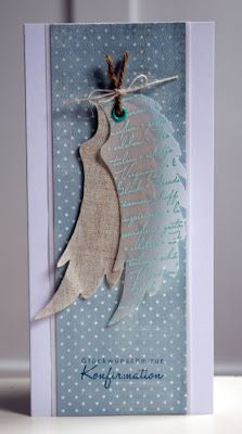 You shouldn't see this card until tomorrow, but I … – Invitation 2020 Wings Card, Confirmation Cards, Feather Cards, Scrapbook Cards, Scrapbooking, Paper Tags, Heart Cards, Card Making Inspiration, Card Tags