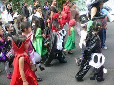 Dia de muertos en un jardin de niños.