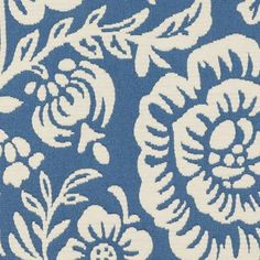 Fabulous floral - large french blue upholstery fabric by Duralee. Item 36040-89. Save on Duralee. Big discounts and free shipping! Always 1st Quality. Over 100,000 fabric patterns. Sold by the yard. Width 56 inches. Fabric Board, French Blue, Country French, Curtain Fabric, Curtains, Fabulous Fabrics, Bath Decor, Blue Fabric, Fabric Patterns