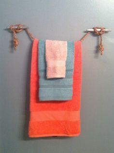 $5 nautical towel holder