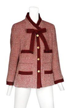 Vintage Chanel Red Tweed Jacket @ Resurrection Vintage NY
