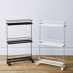 3 Shelf Utility Storage Cart - Room Essentials™ Fit-Anywhere Slim Storage Cart - Storage Cart - Idea Storage Cart, Wall Storage, Bathroom Storage, Kitchen Storage, Storage Spaces, Storage Ideas, Kitchen Organization, Liquor Storage, Kitchen Racks