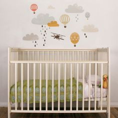 Up Up & Away Fabric Wall Decals / rosenberry rooms, beautiful eclectic art.