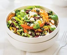 Teplý kuskusový salát s pečenou dýní | Recepty Albert
