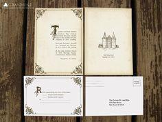 Storybook Wedding Invitation 10 00 Via Etsy Invitations Stationary Pinterest Music Theme Weddings Paper And Suite