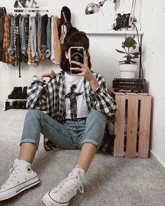 edgy outfits Image may contain: one or more people, shoes and indoor Style Grunge, Grunge Look, Grunge Girl, Grunge Fashion Soft, Alternative Mode, Alternative Outfits, Alternative Fashion, Gothic Fashion, 90s Fashion