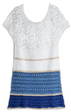 Manequim - Vista a tendência: molde do vestido de crochê da edição de março