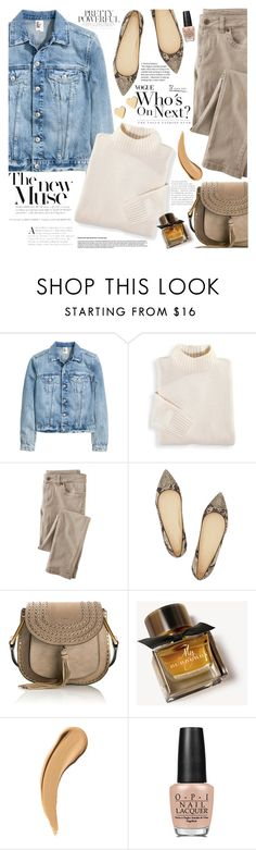 """Denim Trend: Jean Jackets"" by martinabb on Polyvore featuring Blair, Wrap, J.Crew, Chloé, Burberry, OPI and Lipsy"