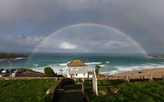 Rainbow over St. Ives in Cornwall