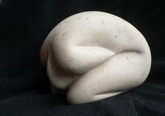 Why - Sculpture ©2007 by Renate Verbrugge - stone sculpture marble contemporary figurative abstract