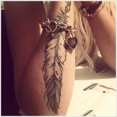 Feather Tattoos ideas: The Hawk Feather Tattoo Ideas And Meaning For Womoen On Arm ~ tattooeve.com Tattoo Ideas Inspiration