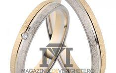 Verighete aur culori combinate de 3mm MDV 5038 #verighete #verighete3mm #verigheteaur #verigheteauraplicatie #magazinuldeverighete Aur, 50 Euro, Symbols, Model, Crystal, Diamond, Mockup, Icons