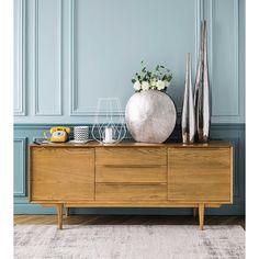 Solid Oak Vintage Long Sideboard Portobello | Maisons du Monde
