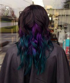 17 best ideas about dark purple highlights on pinterest colored samms peacock inspired purple to teal color melt on a dark brown base pmusecretfo Images