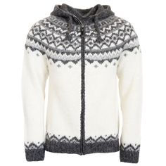 Icelandic Sweaters, Wool Sweaters, Outdoor Apparel, Hooded Cardigan, Sweater Design, Pulls, Knitwear, Clothes, Zipper
