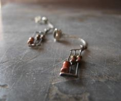 We love these cute earrings made from old computer parts.