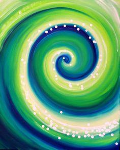 green and blue swirls Mandala Azul, Love Design, Pattern Art, Tile Patterns, Painting & Drawing, Diy Painting, Painting Inspiration, Swirls, Art Projects